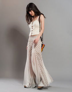 Trendy Top With Palazzo Pant COntrast Match