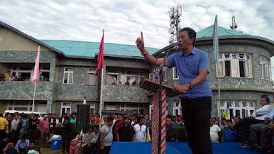 Rebel leader Binay Tamang in kalimpong delo