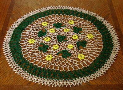 Green Shamrock Doily By Ruth Sandra Sperling of RSS Designs In Fiber