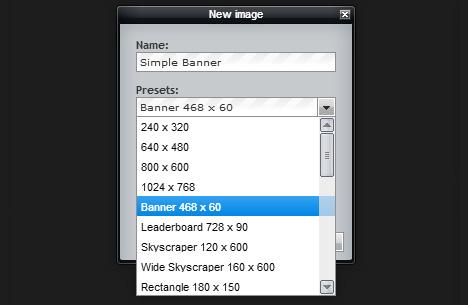create a banner using pixlr