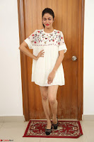 Lavanya Tripathi in Summer Style Spicy Short White Dress at her Interview  Exclusive 293.JPG