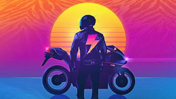 Biker, Motorcycle, Sunset, 4K, #4.3062