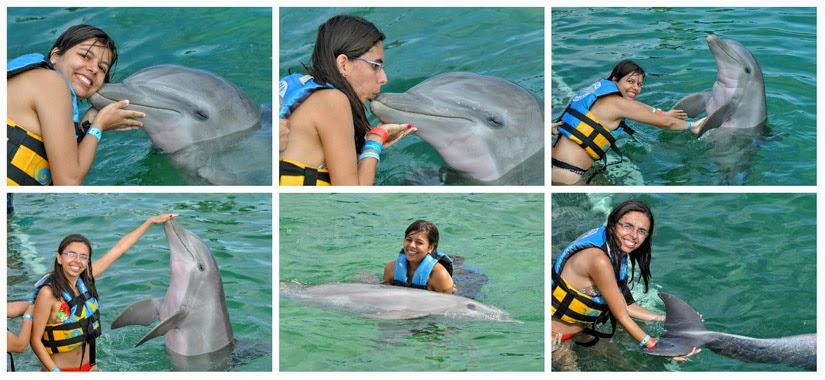 Onde ficar em Cancun - nadando com golfinhos no Moon Palace Resort