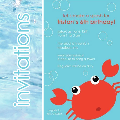 Under The Sea Theme Birthday Party Ideas Kids Childrens Parties Pool Invitation