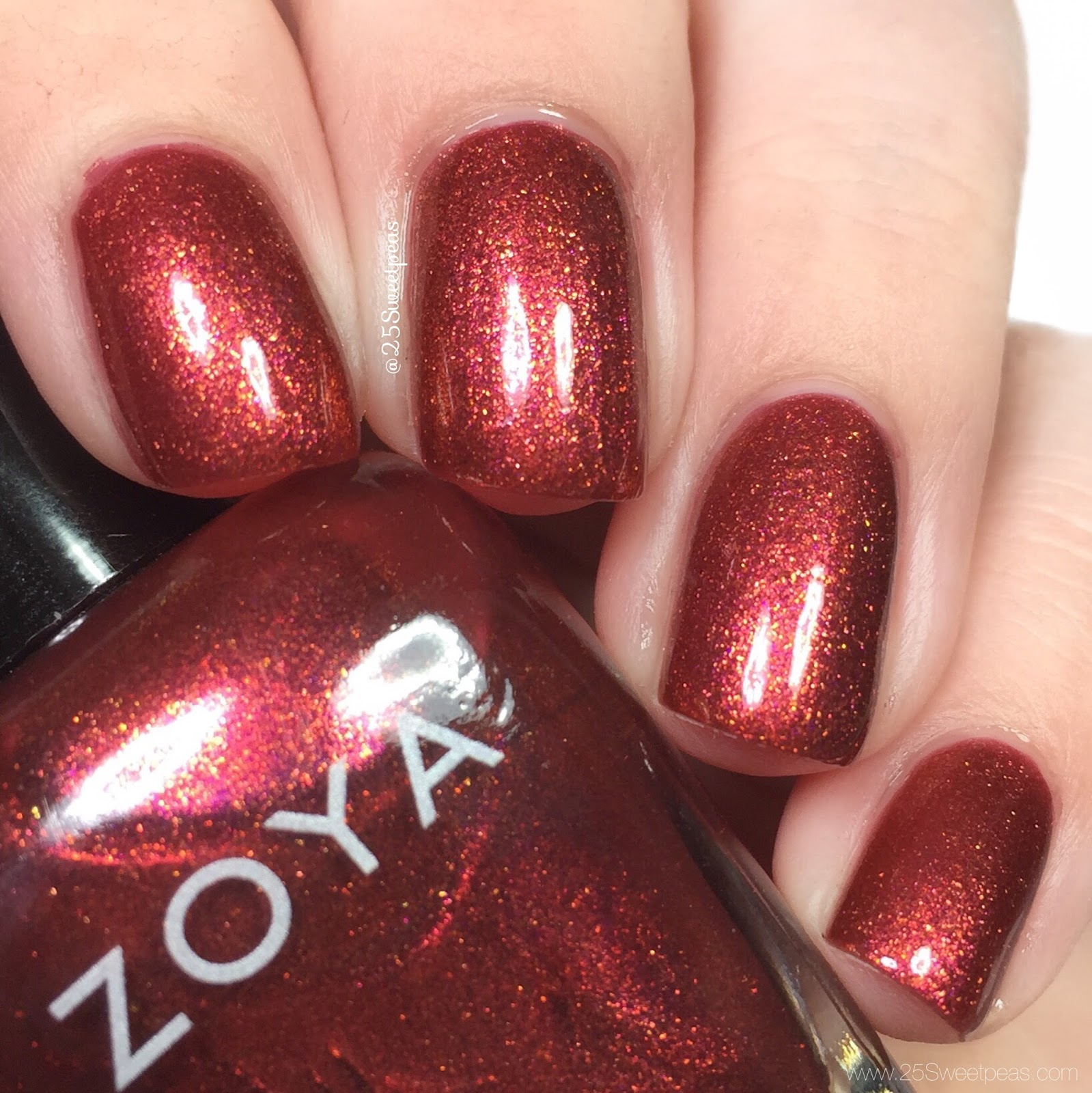 Zoya | Party Girl Swatch and Review + Live Swatch Video - 25 Sweetpeas