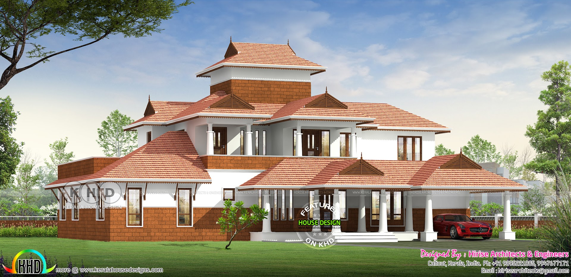 Traditional Style Kerala Home Design 5 Bedrooms Kerala