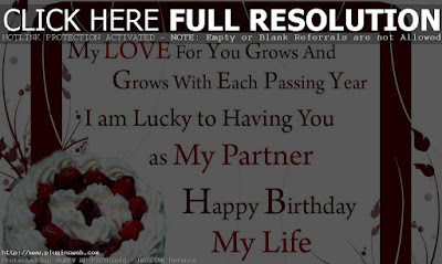 Happy Birthday wishes quotes for wife: my love for you grows