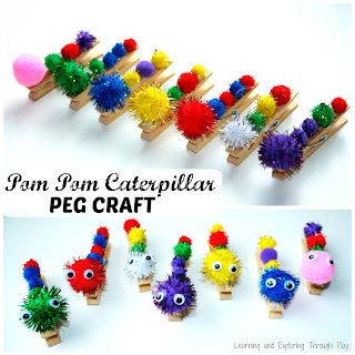The Very Hungry Caterpillar Peg Craft - Learning and Exploring Through Play