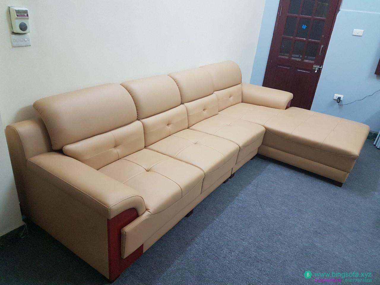 Sofa phòng khách góc L Trắng Sữa - SF01