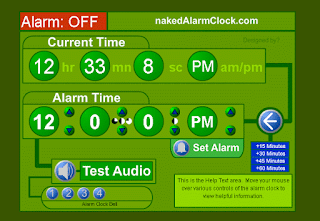 Naked Alarm Clock