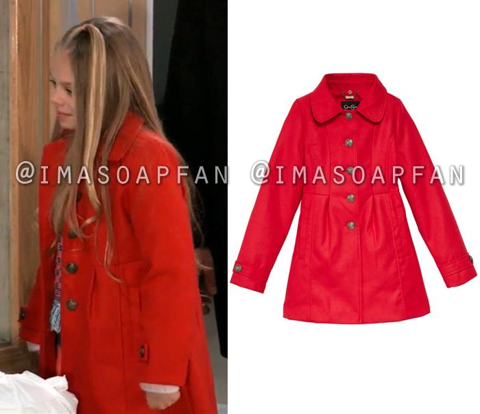 Charlotte Cassadine, Scarlett Fernandez, Crimson Red Coat, General Hospital, GH