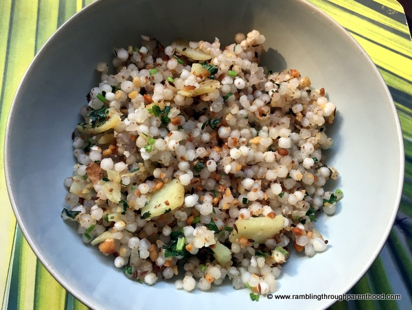 scrumptious Sabudana Khichdi (spicy tapioca sago) that is notoriously sticky and difficult to get fluffy.