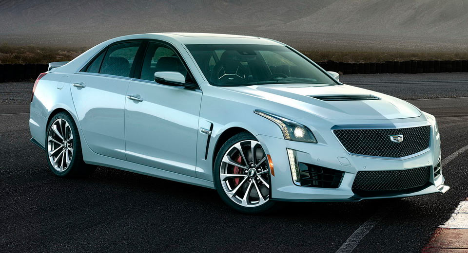 Cadillac paints limited cts v in special light grey to celebrate 115 years - Cadillac cts v glacier metallic edition ...