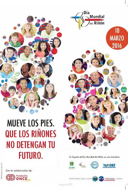 Día Mundial del Riñón 2016 - Mueve tus pies