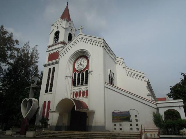 The facade of the Sacred Heart Parish - Shrine or Kamuning Church