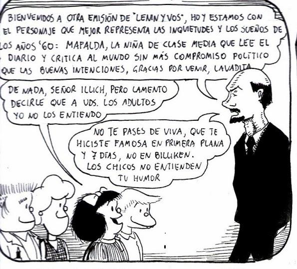 ¿A qué no saben en qué se transformó Mafalda?