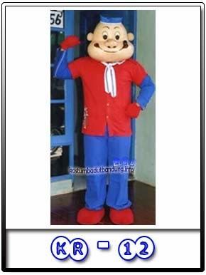 contoh foto badut popeye kostum karakter the sailorman kr-12 lucu