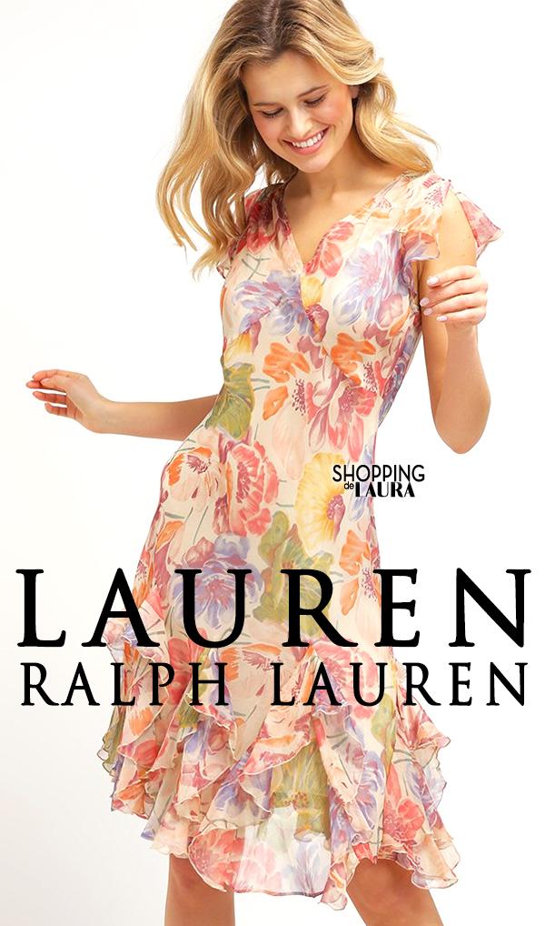 Robe courte d'été motifs feuris en voile Lauren Ralph Lauren