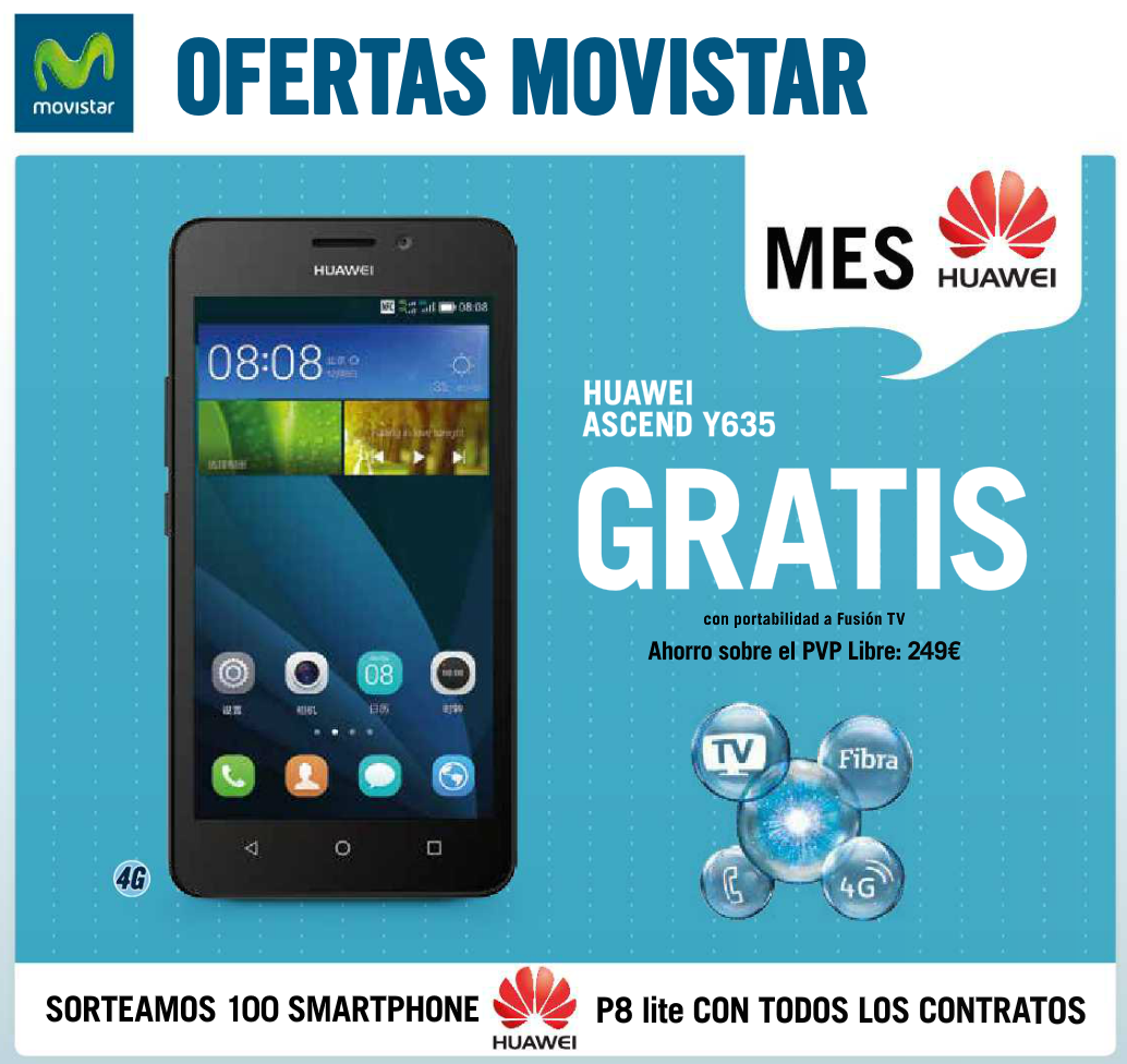 Huawei Y635 Precio Libre Phonehouse Sur Ingenia Mobile Oferta Movistar Junio