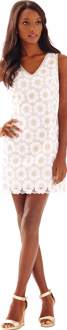 Lilly Pulitzer Addy V-Neck Eyelet Shift Dress