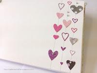 kolorowe mini serduszka karta albumu na wpisy i zdjecia Galeria Schaffar