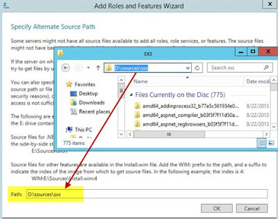 windows server 2012r2 sxs sources