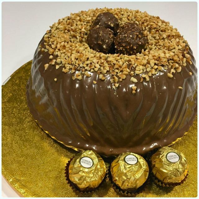 Ferrero Rocher Bundt Cake