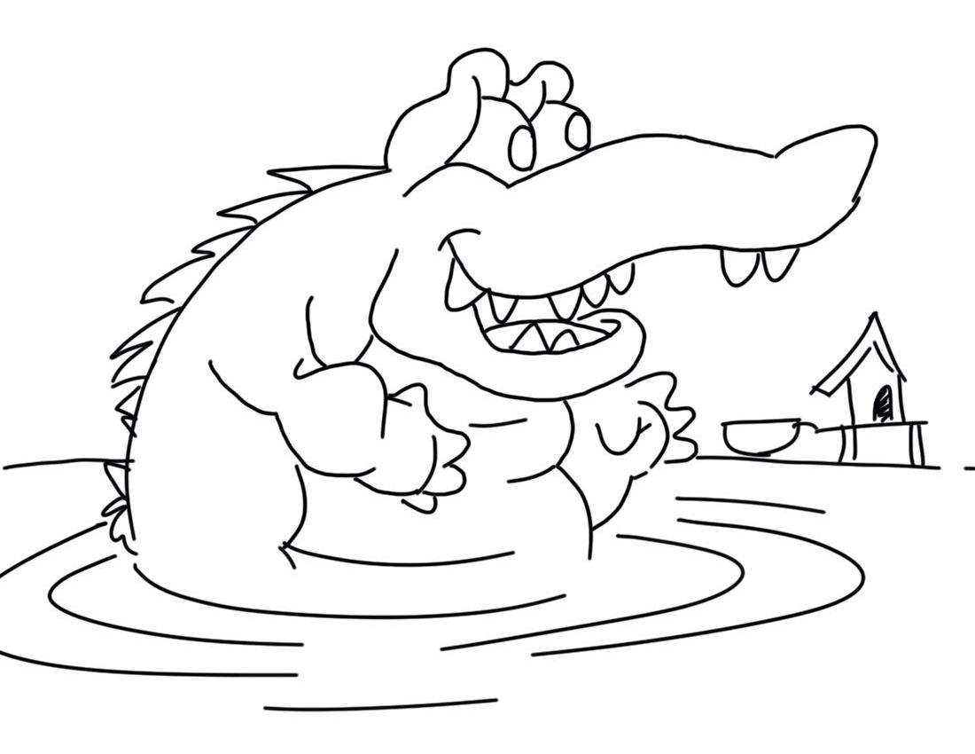 valentine coloring pages alligators - photo #20