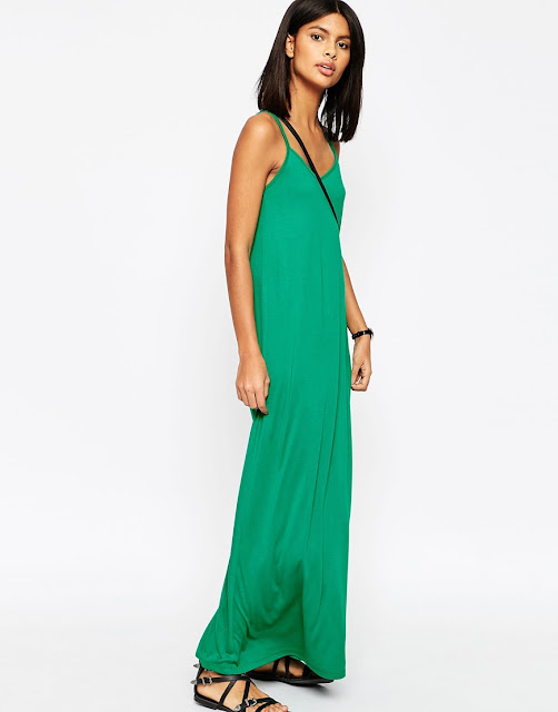 green maxi dress. summer dress green, cami maxi dress, jersey maxi dress,