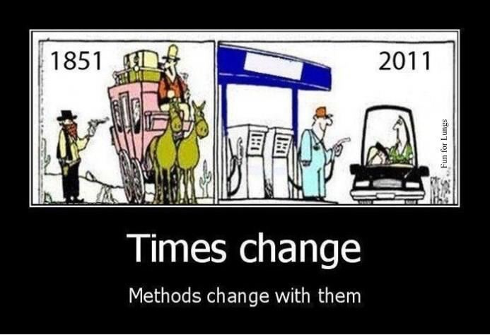 Times change oil