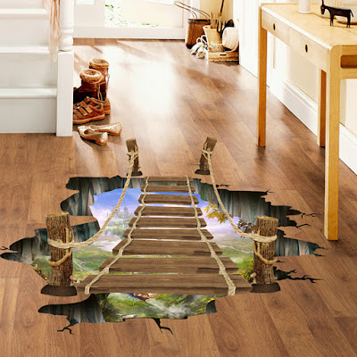 welcoming epoxy 3D flooring mural for home and hotels entrances