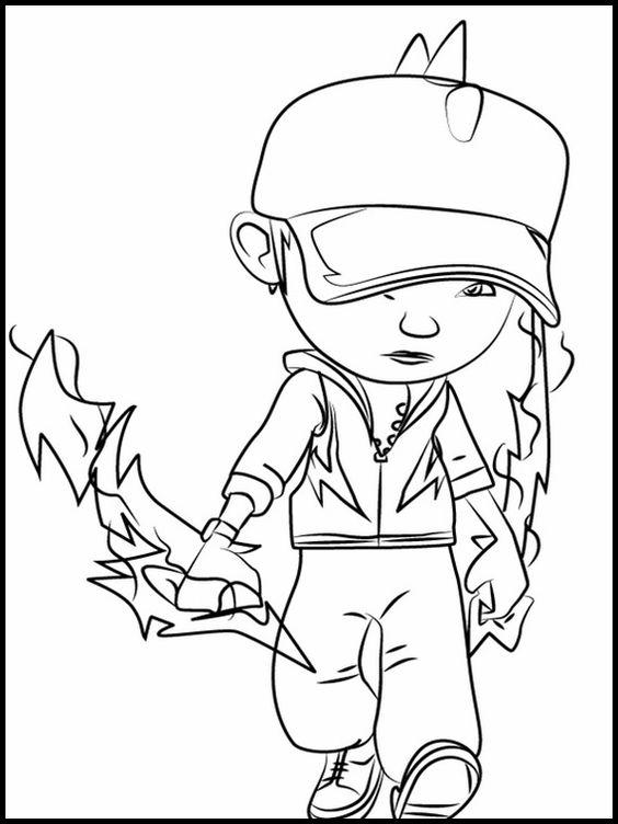 Tranh cho bé tô màu BoBoiBoy 0