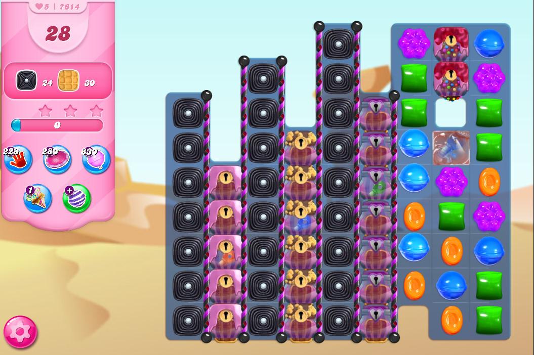 Candy Crush Saga level 7614