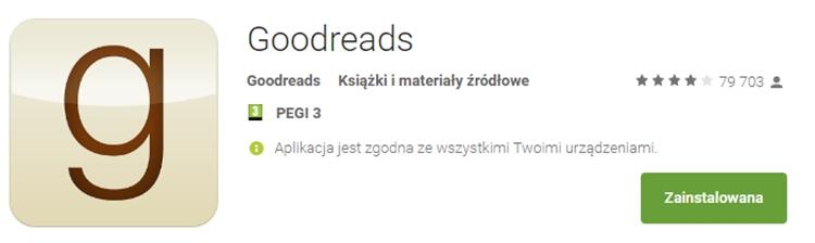aplikacja goodreads