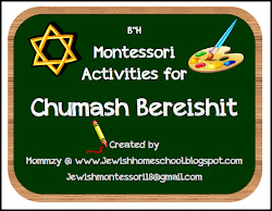 Montessori Inspired Activities for Chumash Bereishit