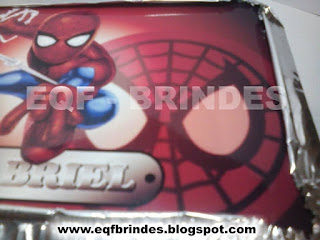 marmitinha homem aranha kid, brinde super herói, lembrancinha super herói, tema homem aranha kid,