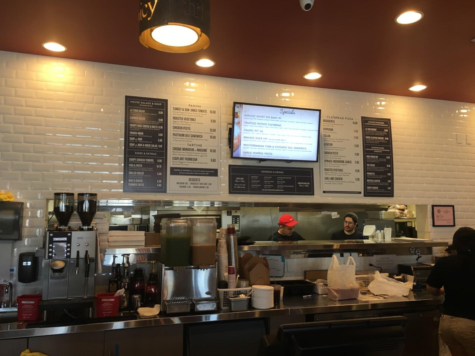La Tour Cafe Macarons Menu