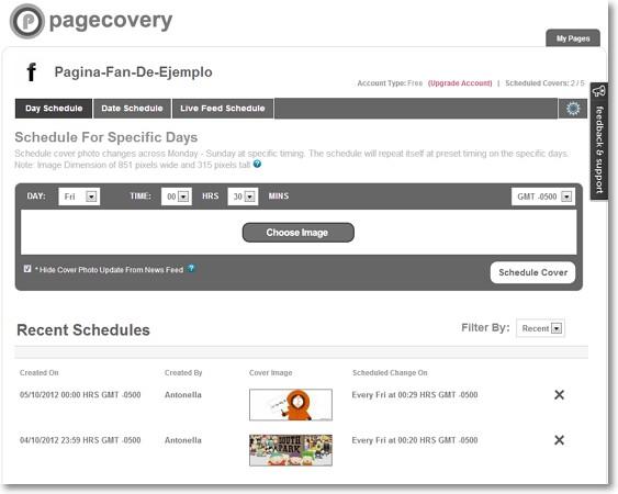 Pagecovery cambia las cabeceras de tus páginas de Facebook