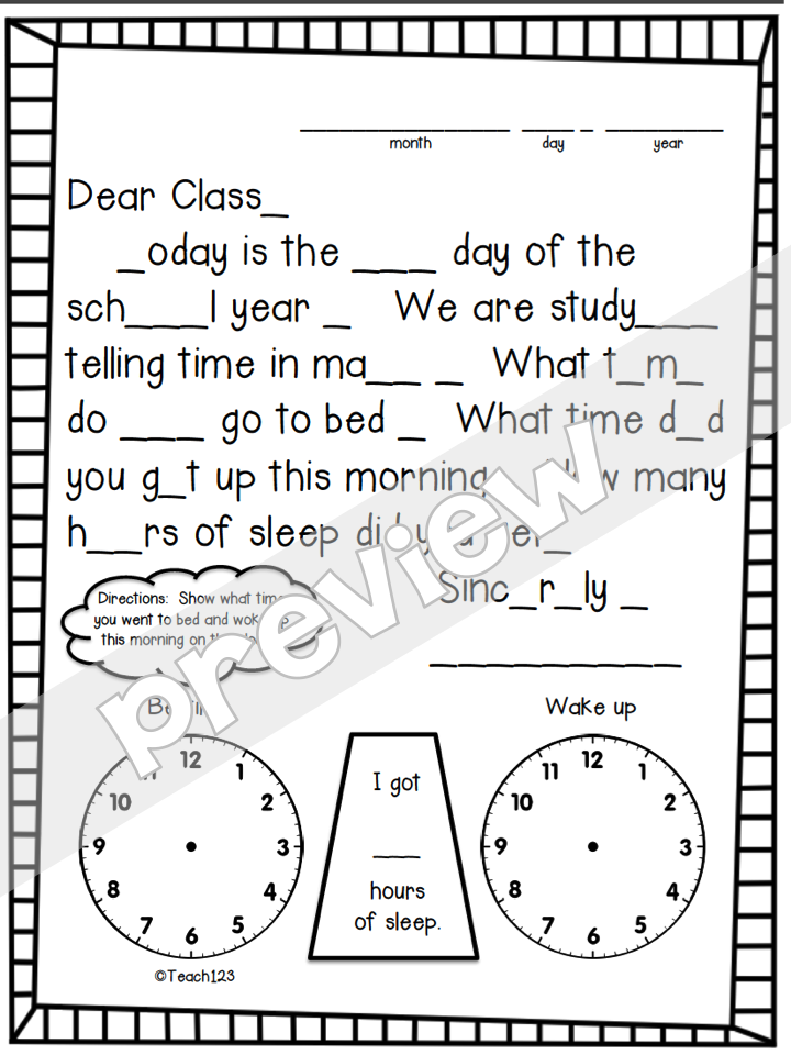 Time, Time, and More Time! • Teach123