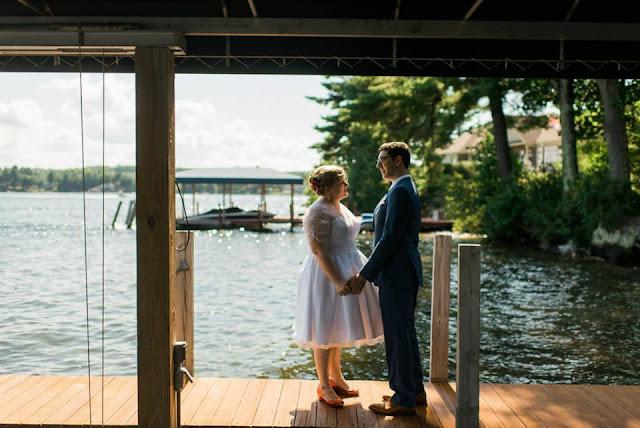 August lake wedding