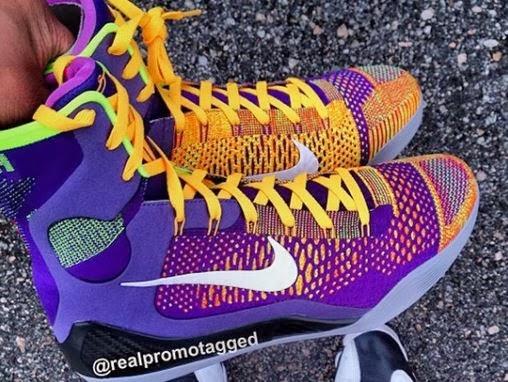 "THE SNEAKER ADDICT  Nike Kobe 9 Elite ""Lakers"" PE Sneaker (Release ... 39fabcfde165"