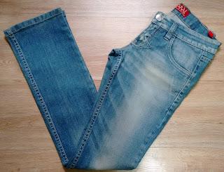 calça jeans Canal tam 36