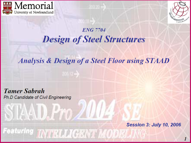 Analysis & Design of a Steel Floor using STAAD