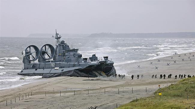 Russian navy forces hold major drills in Baltic Sea