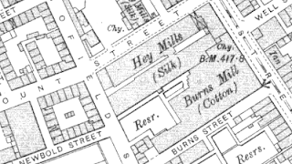 Burns Mill, OS map, 1907.