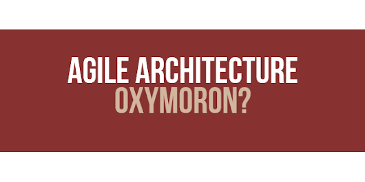 2x Agile Architecture from the Trenches - Frankfurt/Germany, Krakow/Poland
