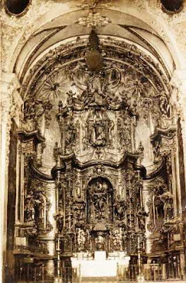 altar mayor, Beceite, Beseit, retablo, foto antigua, pre guerra civil