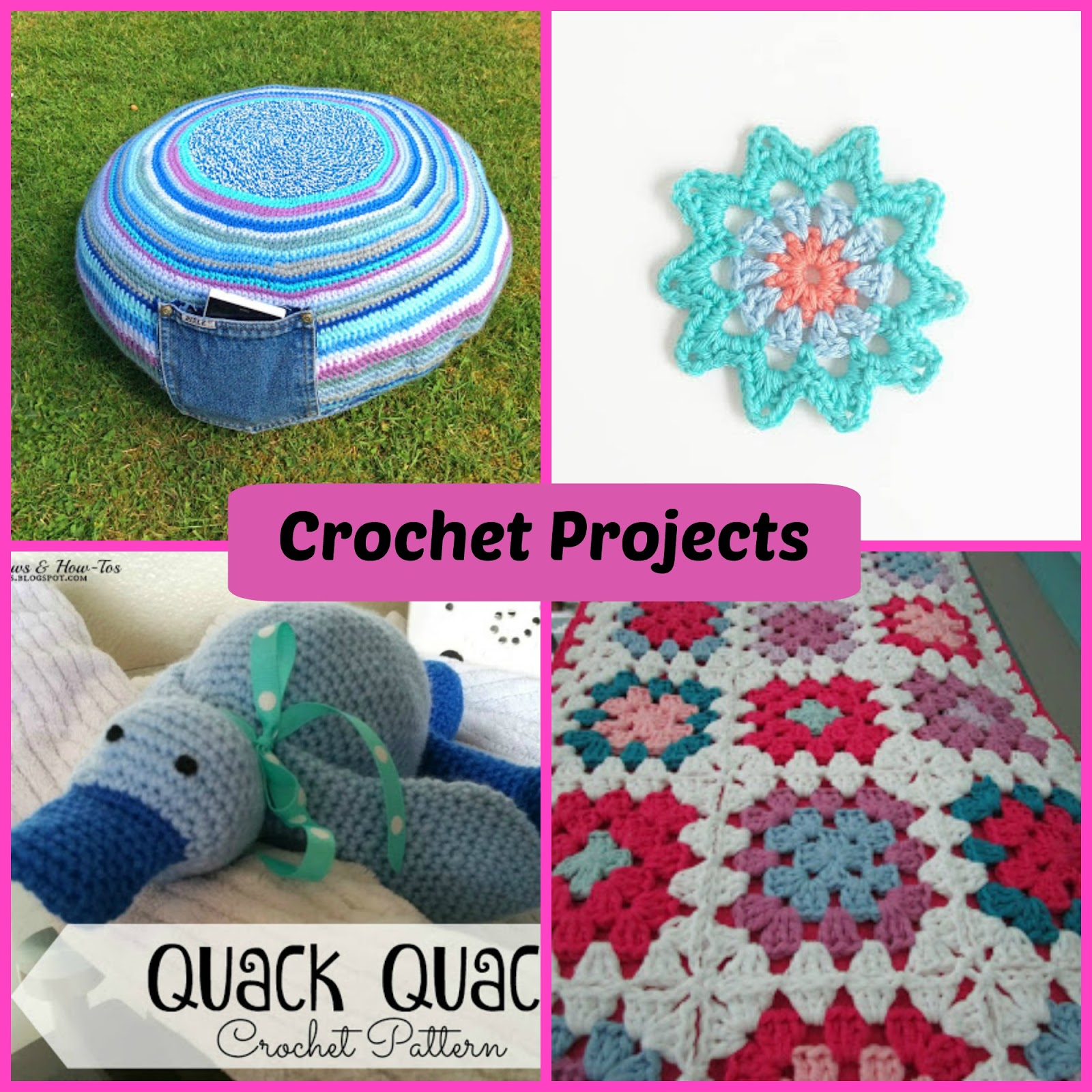 Spotlight Crochet Patterns : Free Flower Pattern from Annemaries Haakblog , Crochet Duck Pattern ...