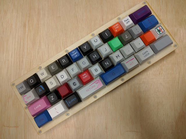 Assembled with keycaps