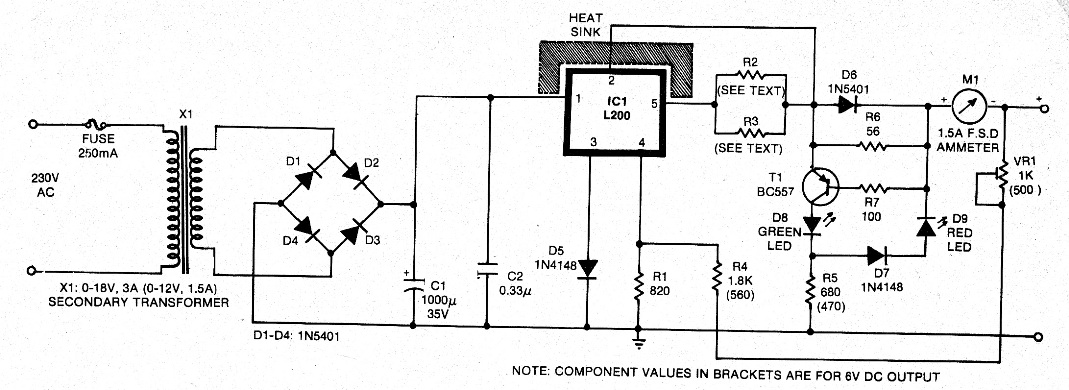 Various diagram: 6V 12V Constant Current Battery Charger